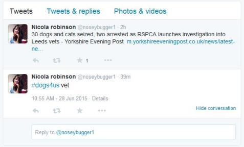 Nicola Robinson Ex-Manager vet