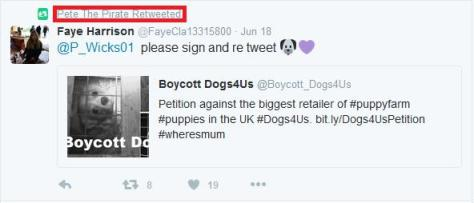 Boycott Dogs4Us Pete The Pirate