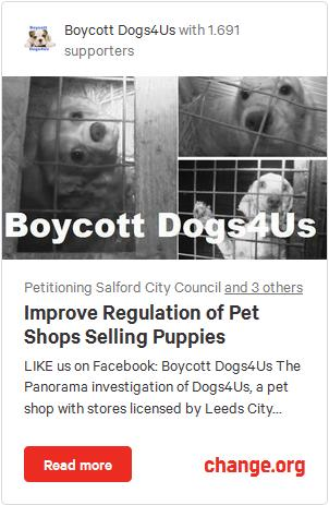 Boycott Dogs4Us Petition